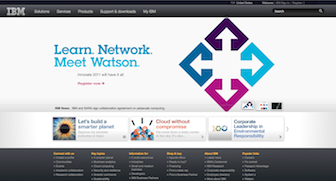 Screenshot of www.ibm.com taken 26 May 2011