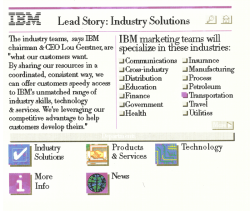 ibm.com v1 Lead Stories Page May 1994