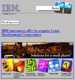 ibm.com v4 June 1995 -- Lotus Development Corp. Takeover Announcement