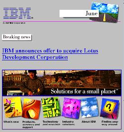 ibm.com v4 June 1995 -- Lotus Development Corp. Takeover Announcement