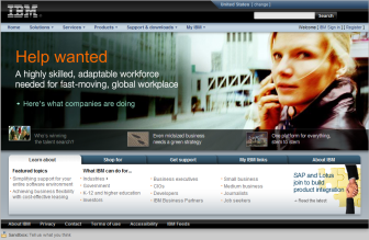 Screenshot of www.ibm.com taken 1 February 2008