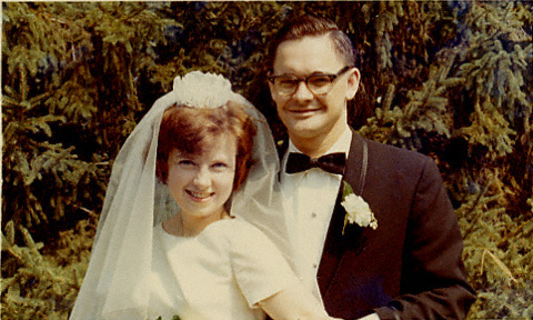 Scan of photo of Edward and Kathleen Costello, September 10, 1966